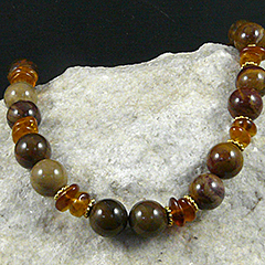 petrified wood agate necklace