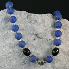 handcrafted lapis necklace
