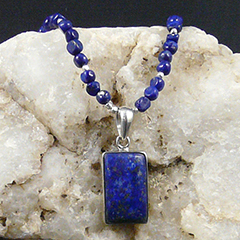 lapis pendant handcrafted necklace